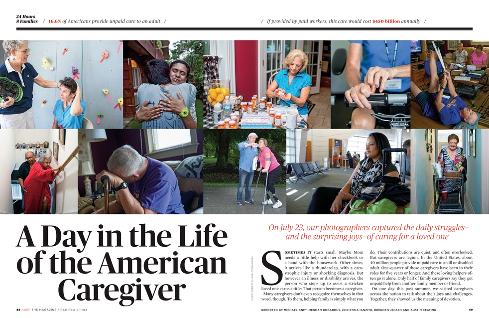 AARP Magazine Spread