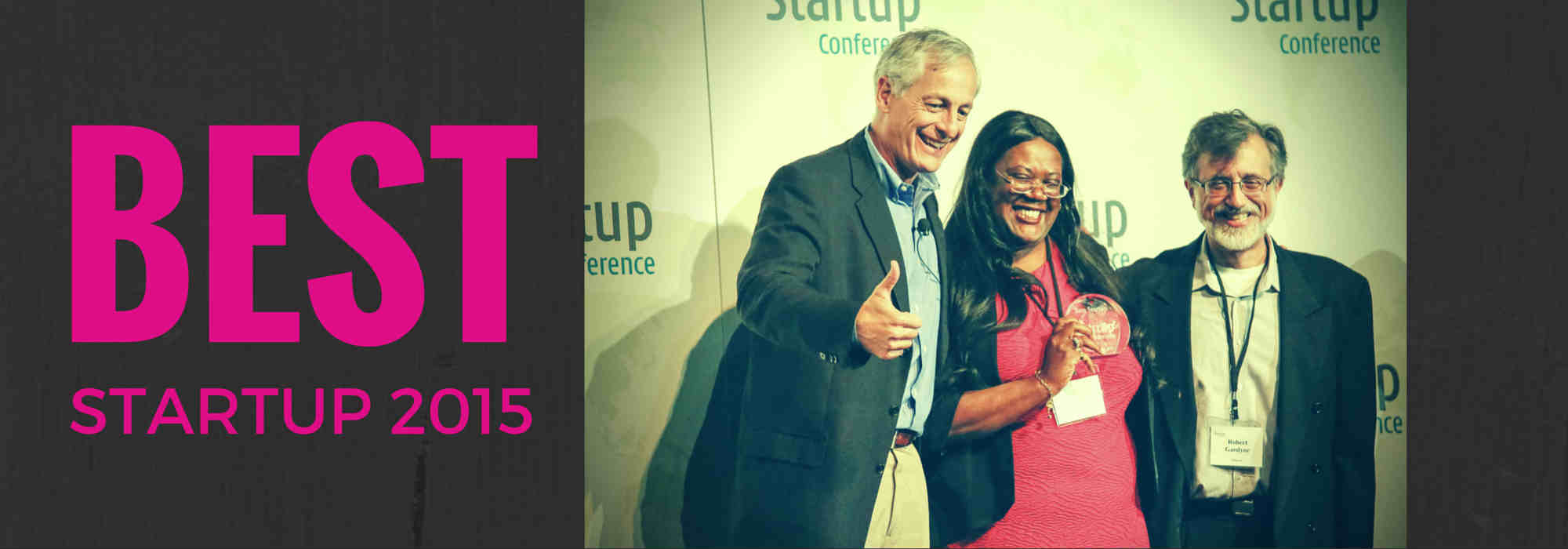 Photo of winning pitch best startup silicon valley