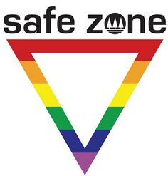 Rainbow sign indicating LGBTQ Safe Zone