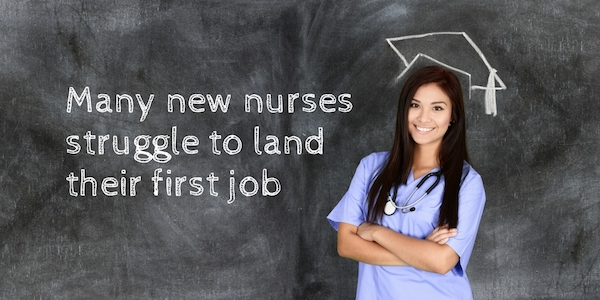 Photo of caregiving nurse looking for first job