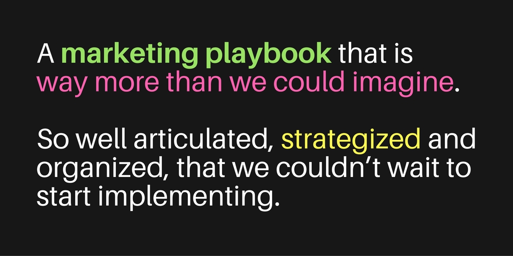 Testimonial for Marketing Playbook Generations Now