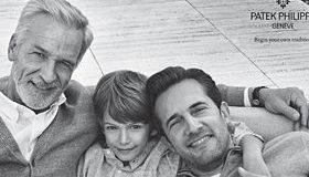 Photo of 3 generations of men in ad for a luxury watch appeals to Generativity