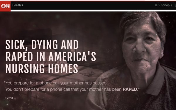 Screenshot of CNN report on Nursing Homes