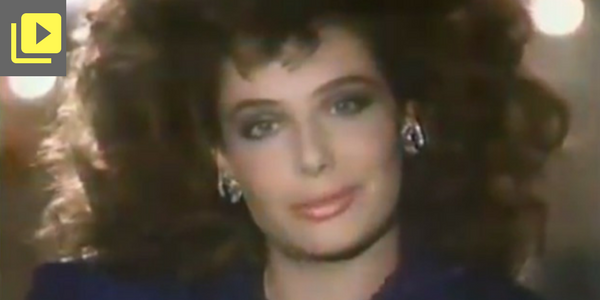 Screenshot of 1986 commercial don't hate me because im beautiful